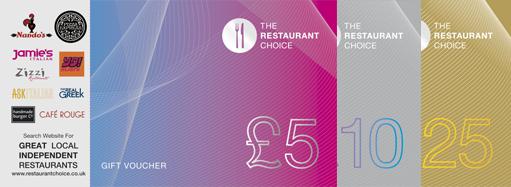 How Our Restaurant Gift Cards Work: Restaurant Choice